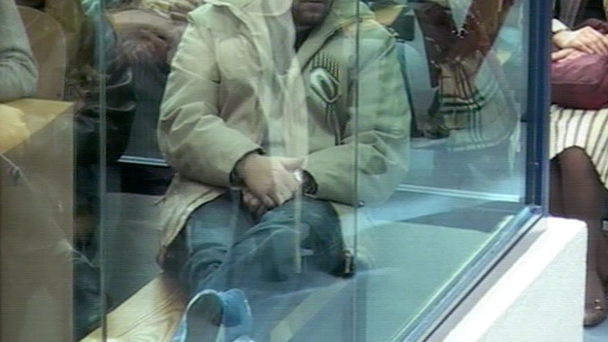 El exminero José Emilio Suárez Trashorras en una sesión del juicio por el 11-M en febrero de 2007. Foto: EFE/TVE