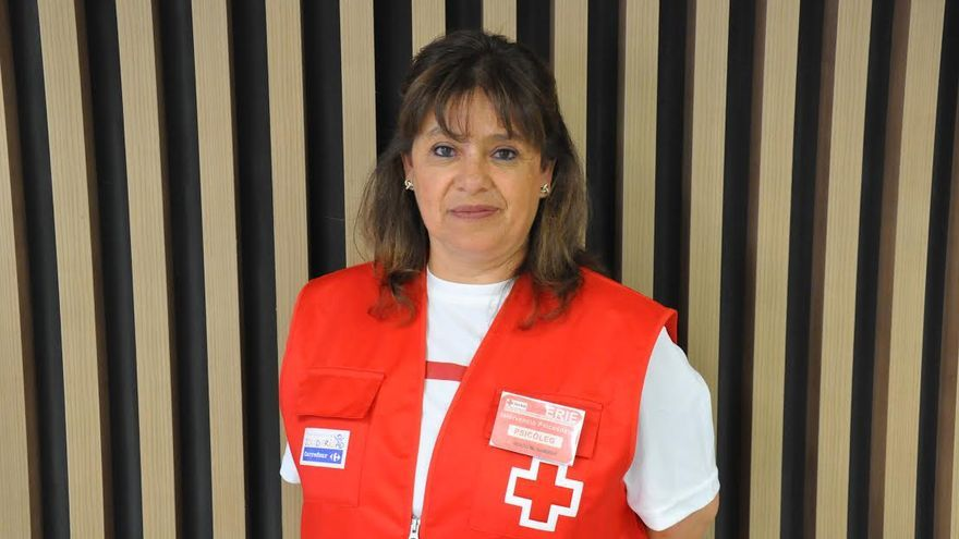 Rocío Gamboa, psicóloga de Cruz Roja