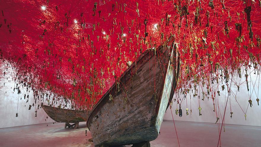 Chiharu Shiota en la Bienal de Venecia | Foto: Sunhi Mang