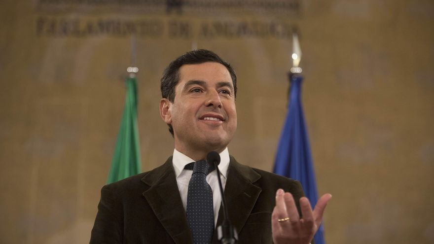 El presidente de la Junta, Juan Manuel Moreno Bonilla