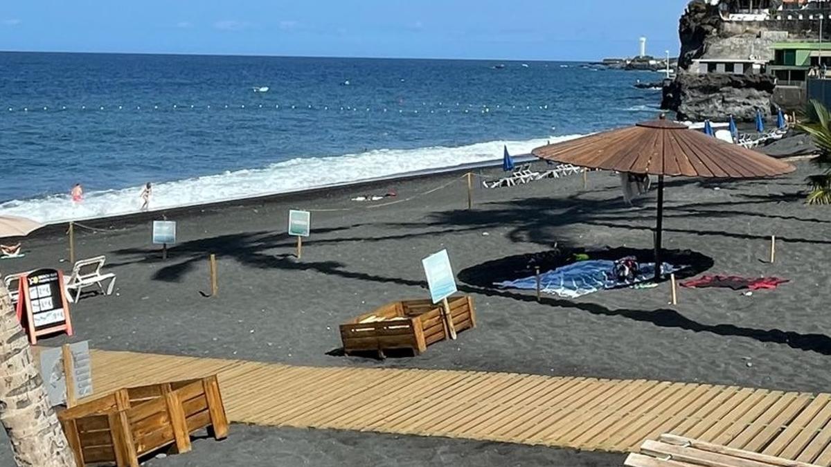 Playa de Puerto Naos   sectorizada.