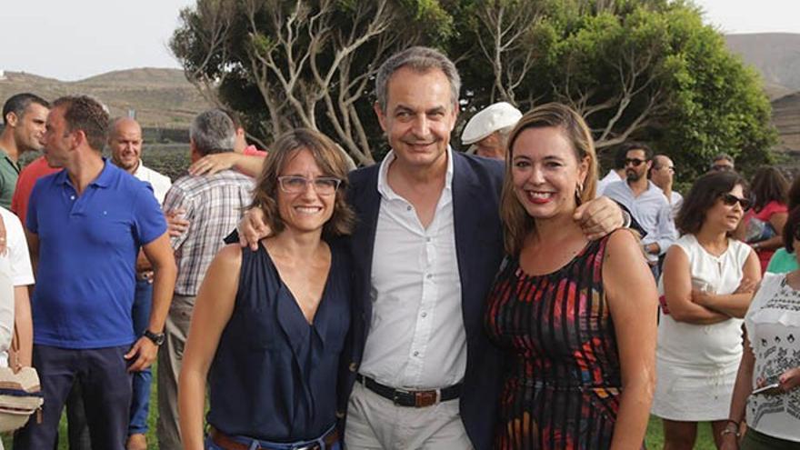 Zapatero en un acto del PSOE en Bodegas La Florida.