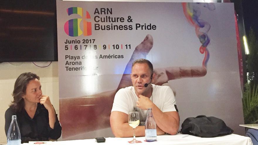 Nacho Vidal, en un momento de su intervención de este martes, en el ARN Pride