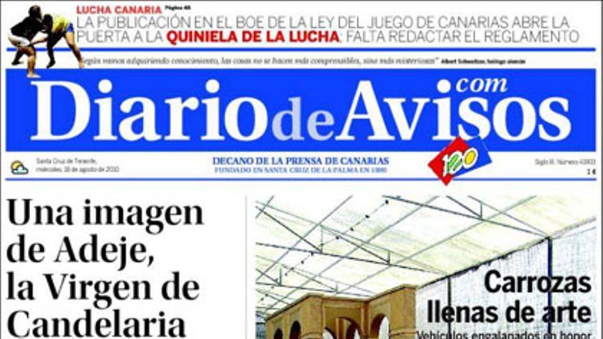 De las portadas del día (18/08/2010) #3
