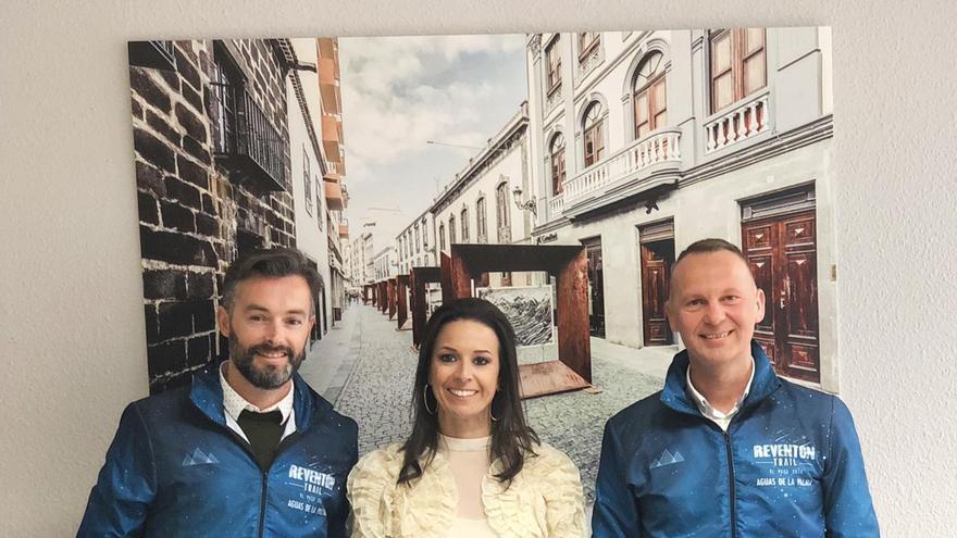 Acto del acuerdo entre CaixaBank y Reventón Trail 2019.