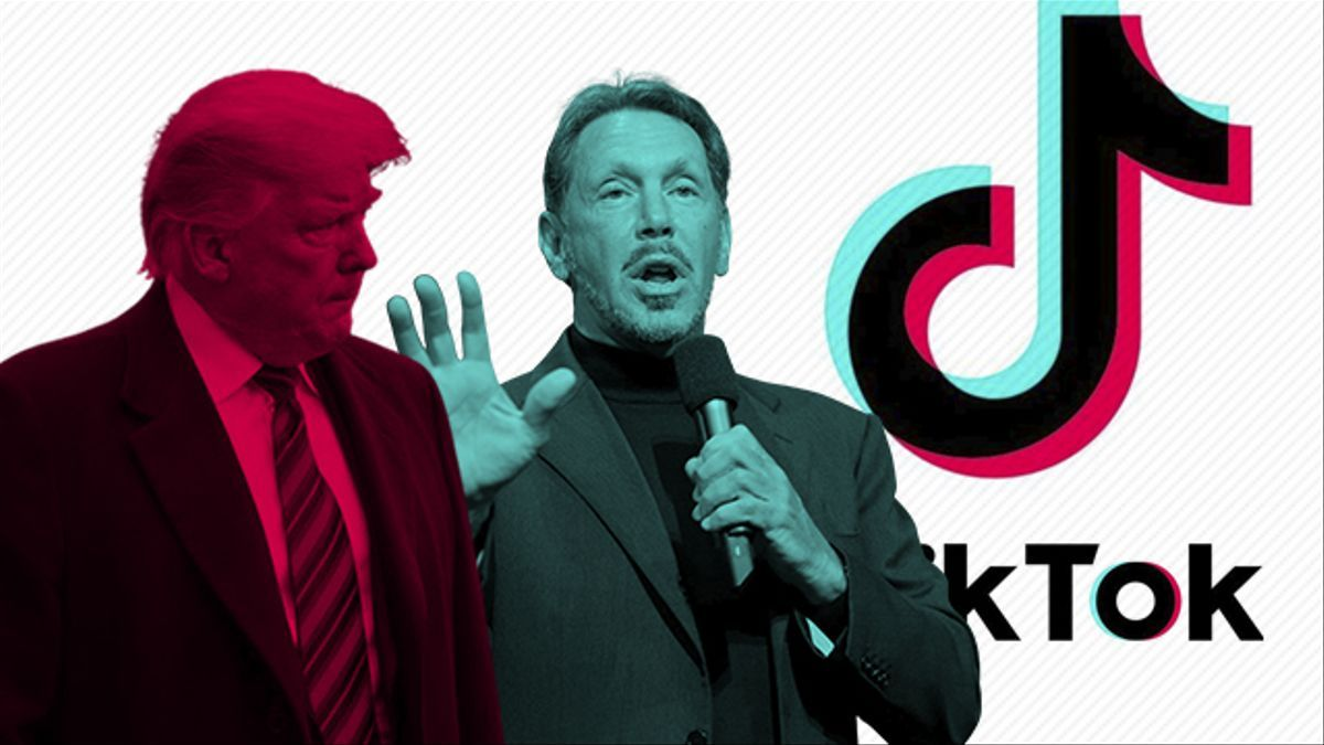 Donald Trump, presidente de EEUU, y Larry Ellison, fundador de Oracle.