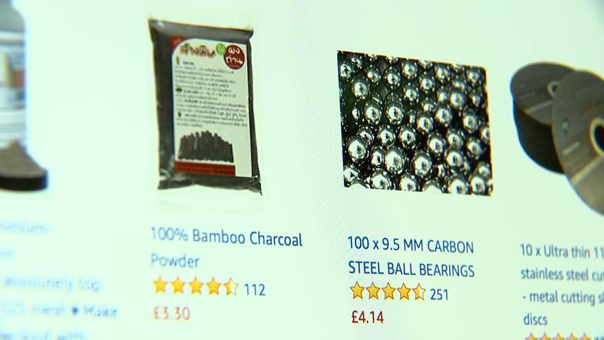 Bolas de acero en Amazon