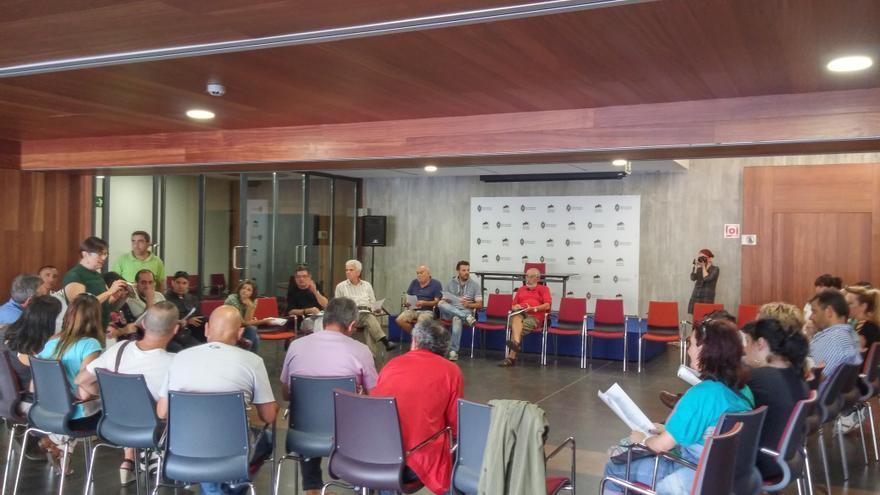 Primera asamblea de Podemos Bizkaia en el municipio de Ortuella en la zona minera.