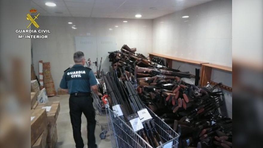 Armas incautadas en Canarias que serán destruidas por la Guardia Civil