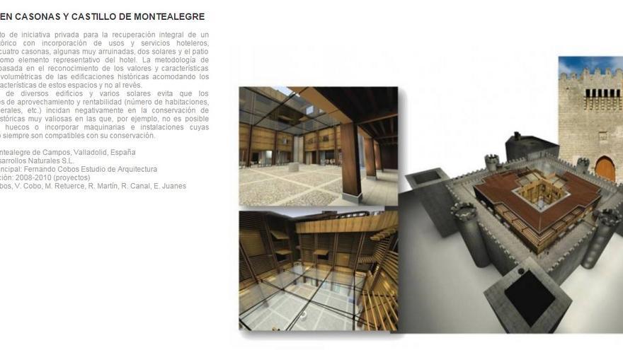 Proyecto piloto de la rehabilitación del castillo de Montealegre / Foto: Fernando Cobo. Estudio arquitectura.