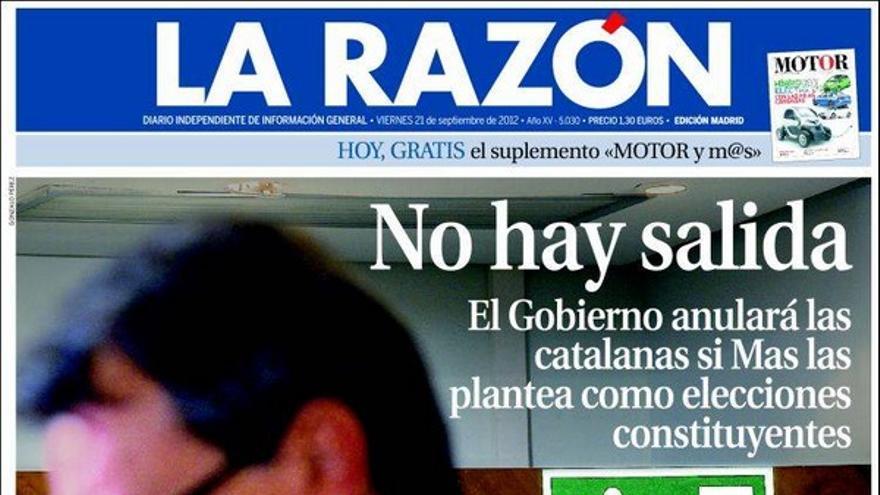 De las portadas del día (21/09/2012) #9