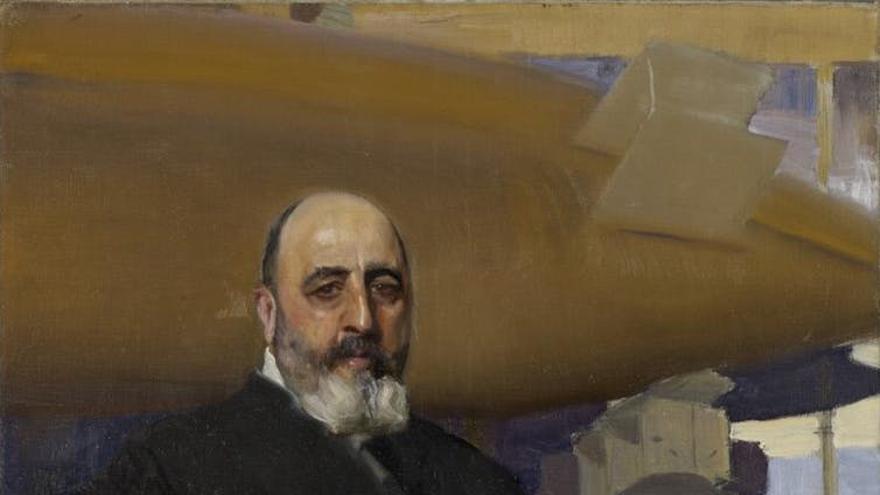 Torres Quevedo reatratado por Joaquín Sorolla en 1917