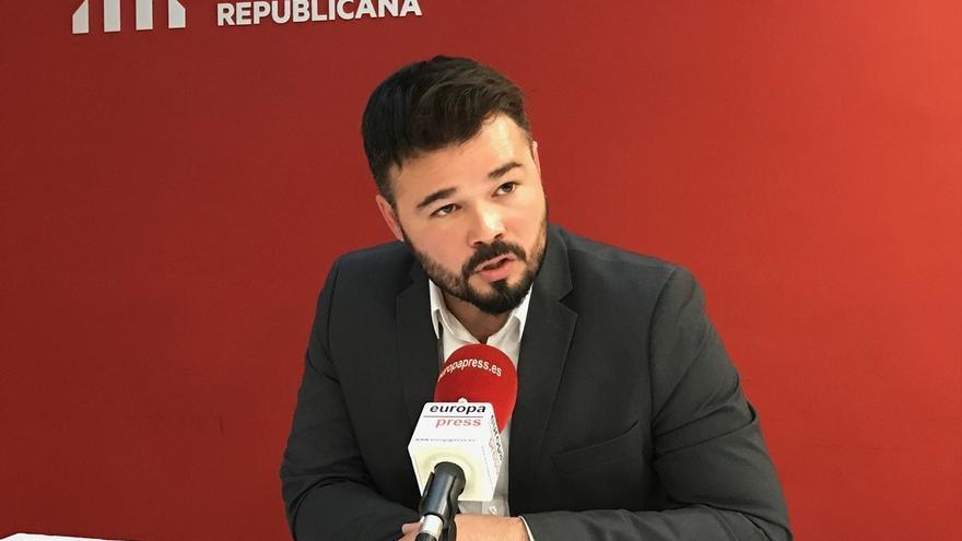 "Rufián (ERC): ""No pedimos a la gente que sea independentista, pedimos que sea demócrata"""