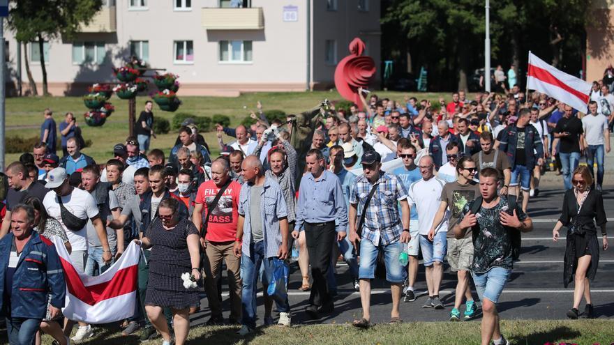 Continúan las huelgas en Bielorrusia durante la novena jornada de protestas