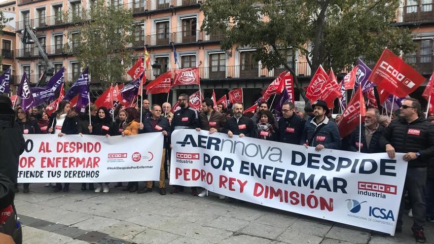 Manifestación en Toledo contra el despido por enfermedad