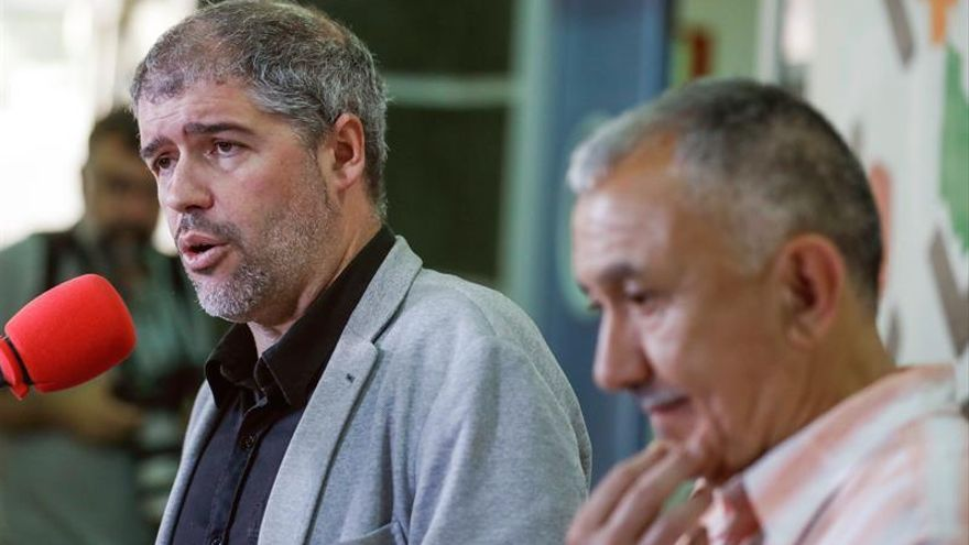 Unai Sordo y Pepe Álvarez. EFE