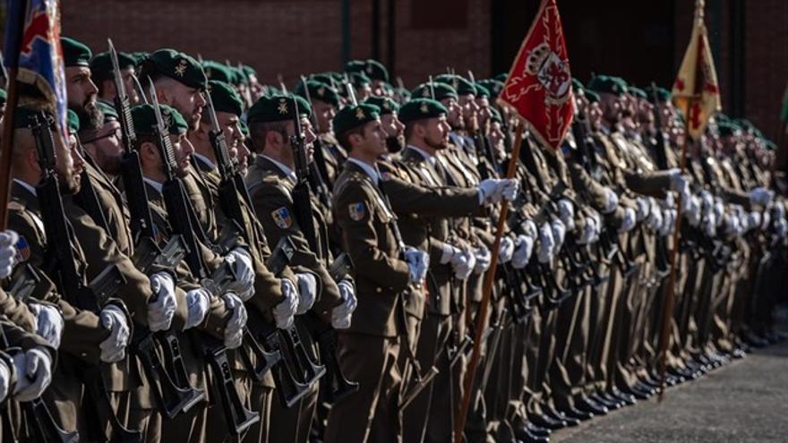 El Regimiento América 66 celebra su patrona en el acuartelamiento de Aizoain