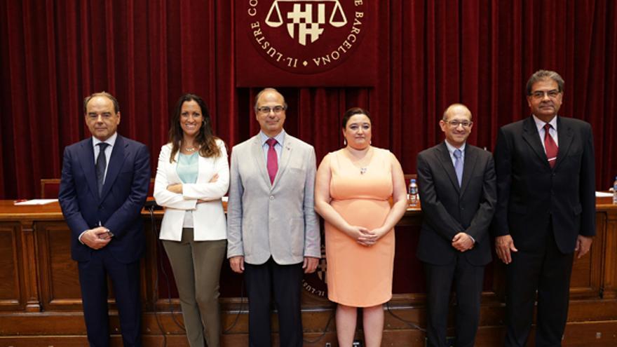 Desde la izquierda, Pintó, Gay, Labella, González, Paños y Riera