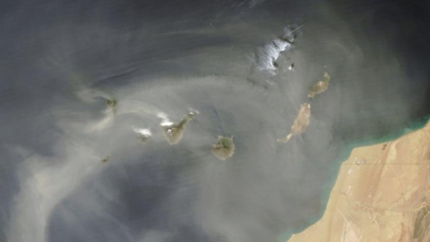 Polvo en suspensión sobre el archipiélago canario