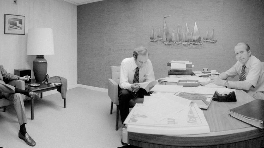 Jack Frassanito, Phil Ray (cofundador de CTC) y Gus Roche en 1969