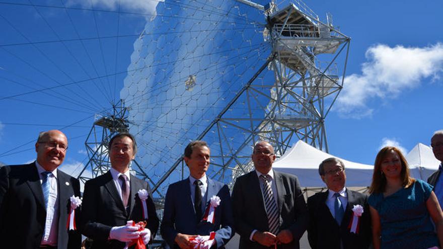 Inauguración en el Roque de Los Muchachos del prototipo de gran tamaño(el LST-1) de la Red de Telescopios Cherenkov.