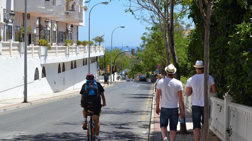 Una calle de Arroyo de Miel