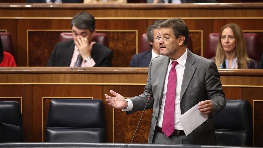 Catalá, durante un pleno del Congreso.
