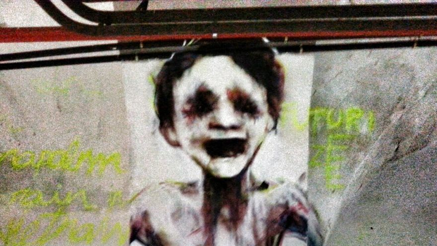 Lienzo de la exposición Hunger de arte urbano/ Foto: Ze Carrión