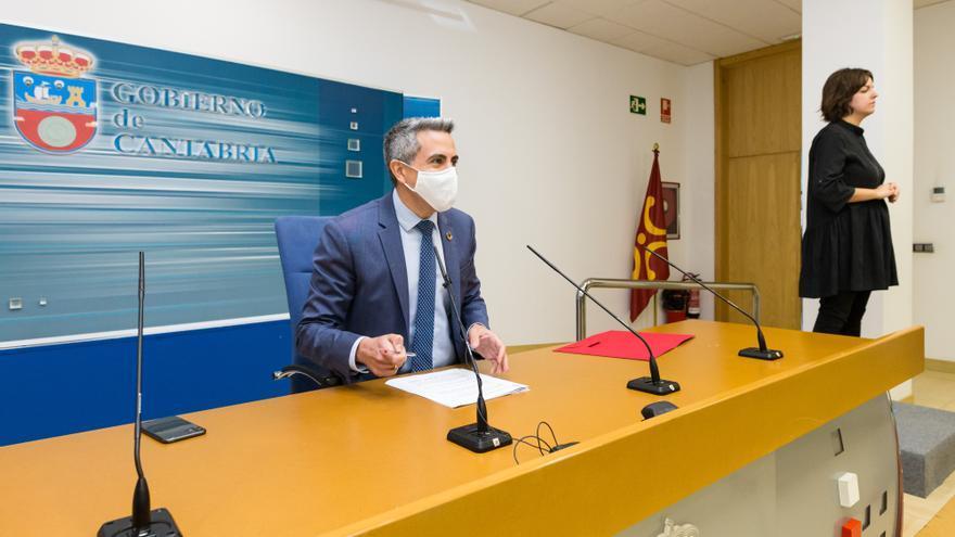 El vicepresidente, Pablo Zuloaga, en la rueda de prensa posterior al Consejo de Gobierno.