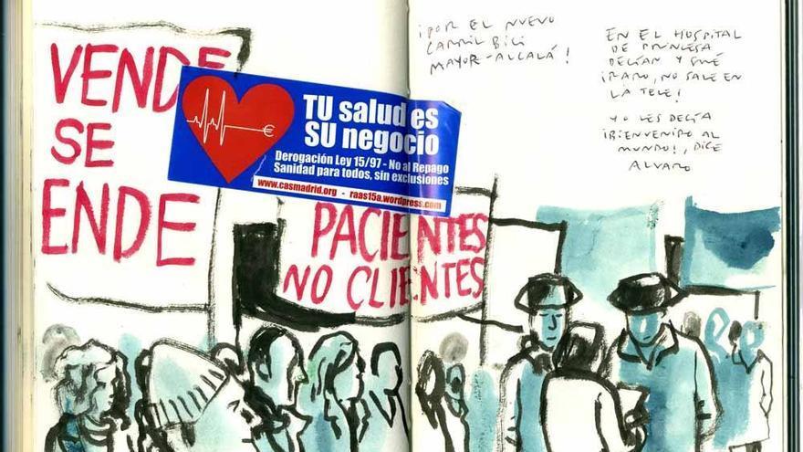 Manifestación de la marea blanca en Madrid