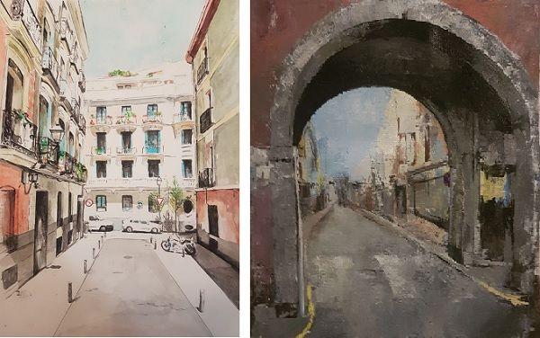 Dos de las obras de Carmen Macho   Belen ArtSpace