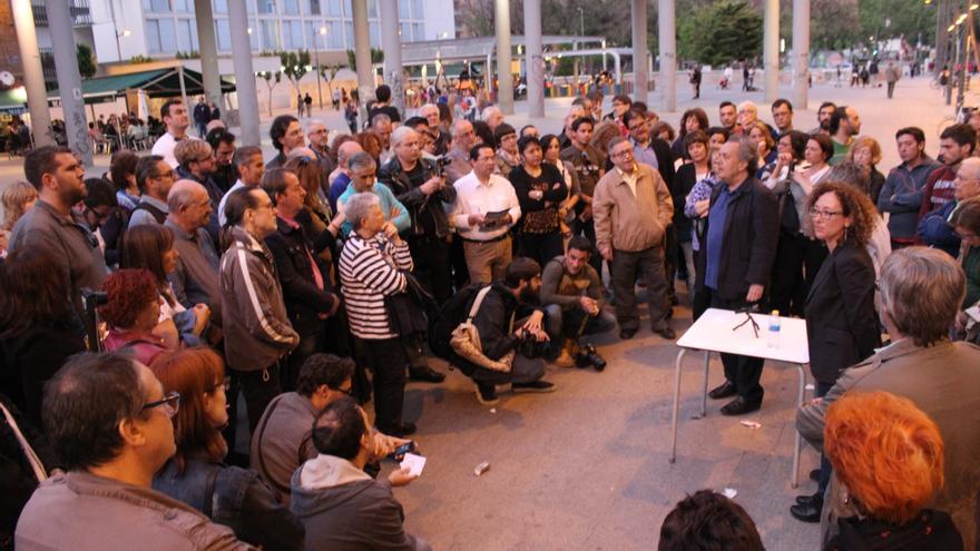 Un momento de la asamblea ciudadana que aprobó la candidatura de Ahora Murcia / PSS