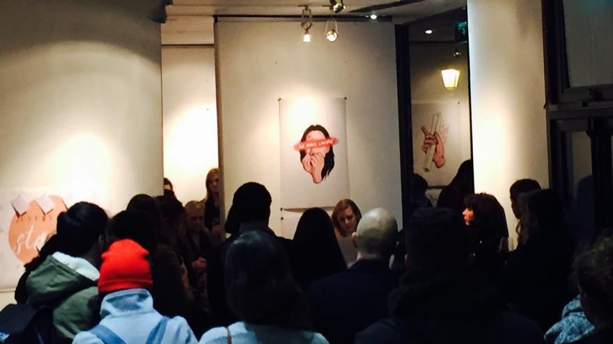 """Imagen de la inauguración de la exposición """"Everyday Stories"""" en Dublín"""