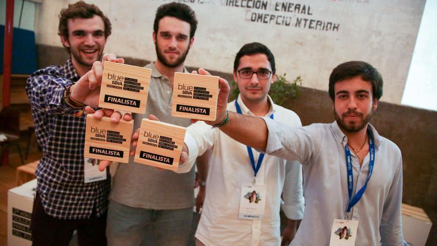 El grupo de cuatro jóvenes creador del proyecto Power Step / Blue BBVA