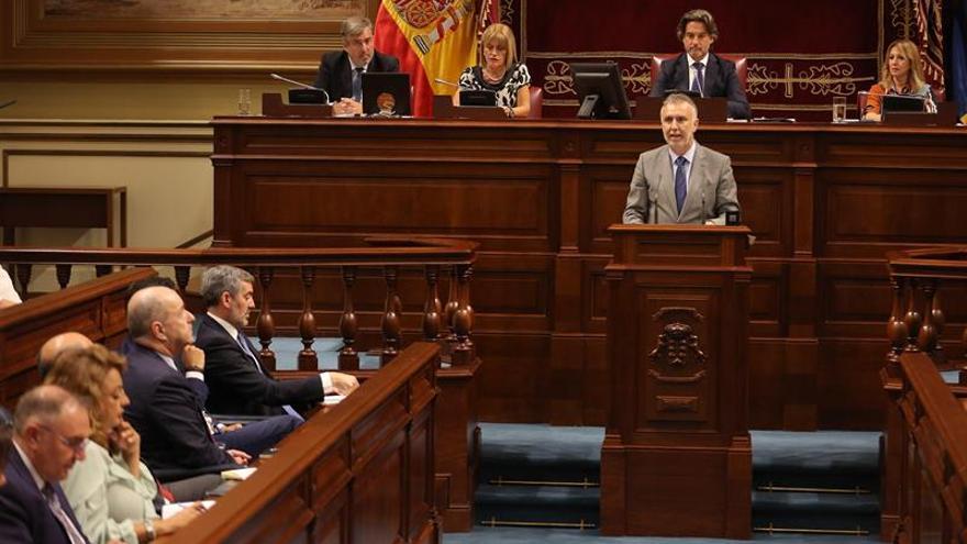 Ángel Víctor Torres, en su discurso de investidura