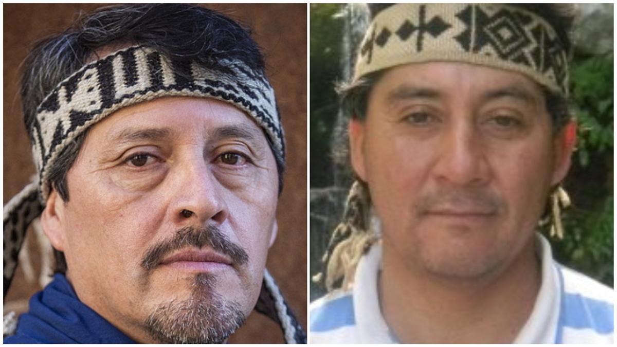Mauro Millán y Lorenzo Loncón, líderes mapuches