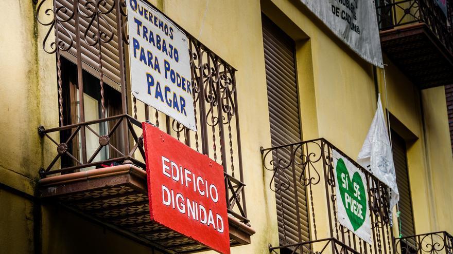 Fachada Edificio Dignidad PAH Talavera
