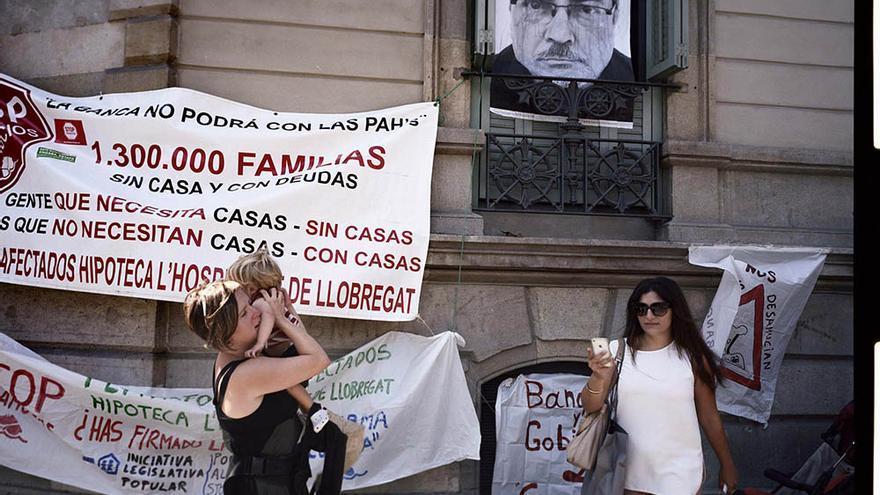 Protesta de la PAH en Barcelona