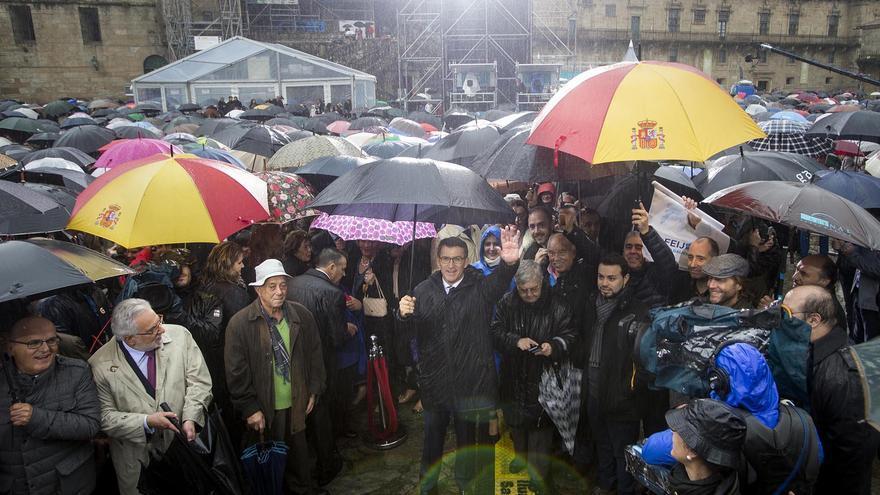 Feijóo, en la celebración de su tercera toma de posesión como presidente de la Xunta en noviembre de 2016