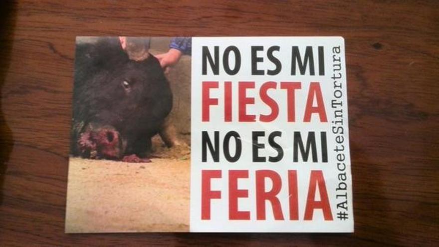 Cartel de la campaña #AlbaceteSinTortura