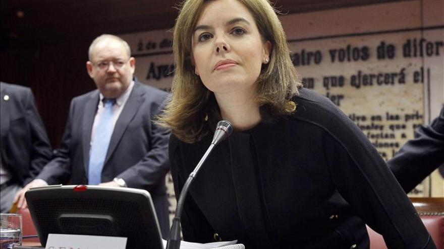 Sáenz de Santamaría anuncia una nueva ley de fomento a la financiación empresarial