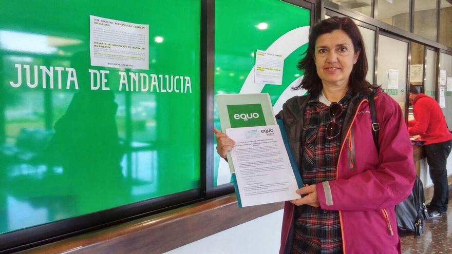 Carmen Molina, en el registro
