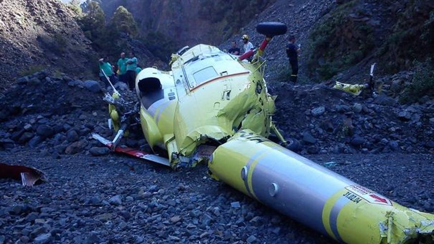 Del helicóptero accidentado #1