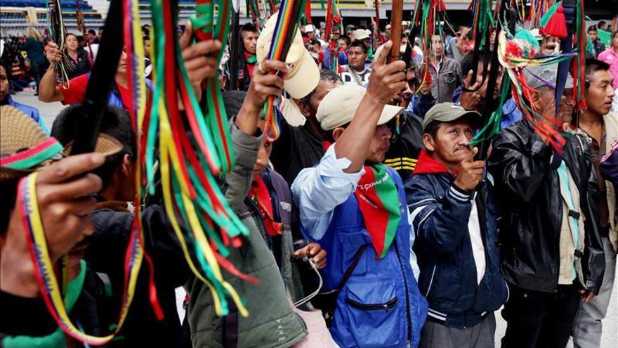 Indígenas colombianos denuncian la vulneración de su autonomía y derechos