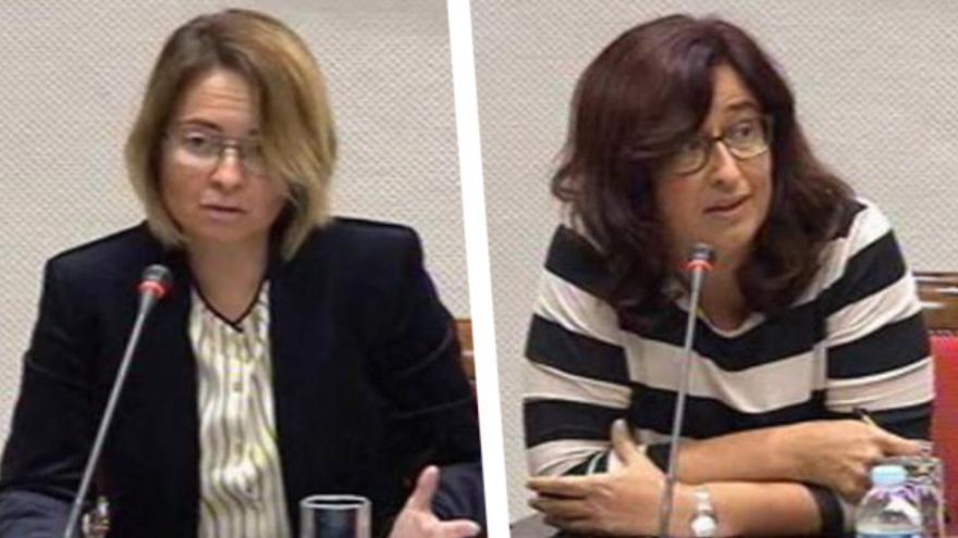 Carmen Zamora, candidata del PSOE al Consejo Rector de RTVC; y Marta Cantero, candidata al Consejo Rector de la RTVC por CC