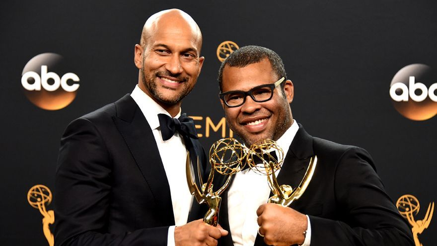 Jordan Peele(dcha.) y Keegan Michael Key, ganadores del Emmy en 2016 por su serie de sketches