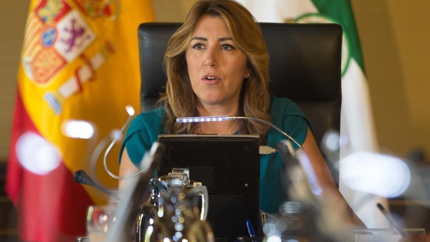 """Susana Díaz tacha la ley del referéndum de Cataluña de """"disparate jurídico y político"""" que es sólo """"un engaño"""""""