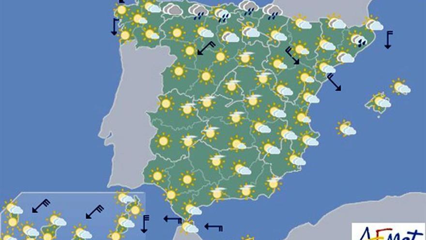 Las temperaturas descenderán hoy en el norte