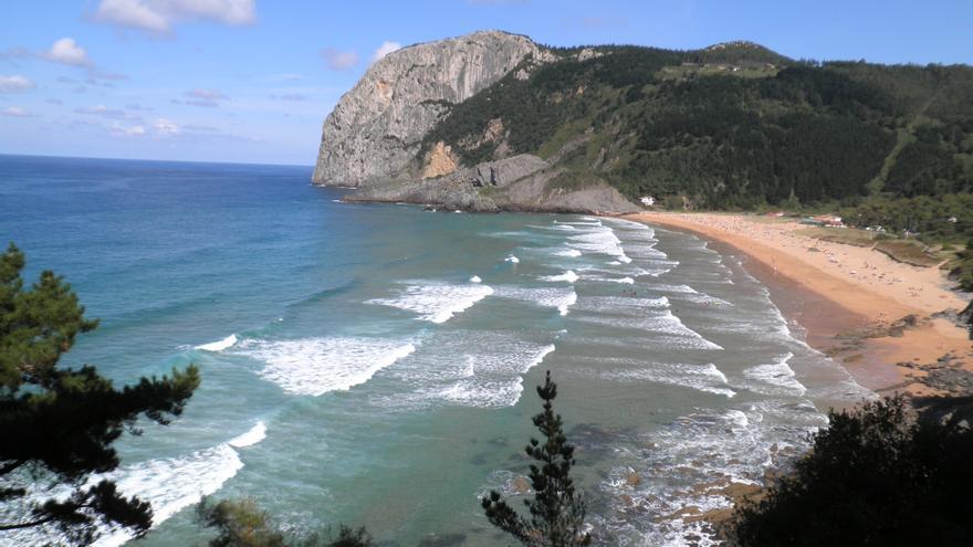 Una parte de la costa vasca.