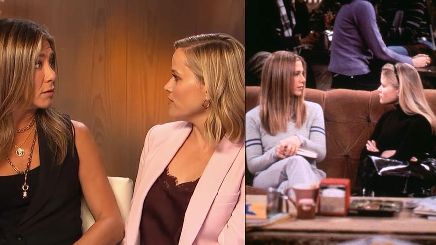 """Jennifer Aniston y Reese Witherspoon recrean una de sus escenas en 'Friends': """"No puedes tener a Ross"""""""